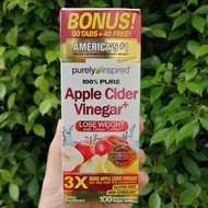 Apple Cider Vinegar+ 100 Easy-to-Swallow Veggie Tablets (Purely Inspired®)
