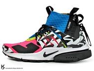 [26cm] 2018 第二彈 德國機能服裝品牌 ACRONYM x NIKE AIR PRESTO MID RACER PINK 螢光桃紅 藍 拉鍊 魚骨鞋 慢跑鞋 (AH7832-600) !