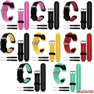佳明Garmin 235 220 230 620 630 735硅膠手表帶替換腕帶雙色運動