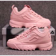 Ready stock Fila Disruptor 2 Men women Casual Couple Increase sports Shoes pink