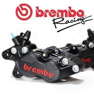 BREMBO 鑄造對四卡鉗 黑底紅字 左卡/右卡 豐年利公司貨