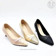 รองเท้าคัชชูหัวแหลม รองเท้าออกงาน รองเท้าทำงาน รองเท้าส้นสูง 1 นิ้ว รุ่น TM6036 (สีทอง / ดำ / นาค) ไซส์ 35-40