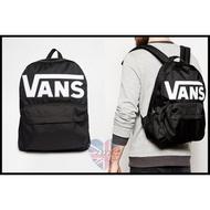 【現貨】Vans 經典Logo 黑色休閒後背包 男女款