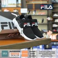 [ลิขสิทธิ์แท้] Fila Amplication 2 Black/White [W] NEA รองเท้า ทรงสวม ฟิล่า ผู้หญิง