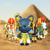 7สไตล์อังกฤษพิพิธภัณฑ์อียิปต์Gods Seriesกล่องตาบอดของเล่นตุ๊กตาสุ่มน่ารักอะนิเมะของขวัญ