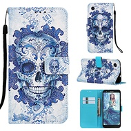 case for google google pixel 3a / google pixel 3a xl magnetic / with stand / shockproof full body cases skull hard pu leather for google pixel 3 / google pixel 3 xl / google pixel 3a xl