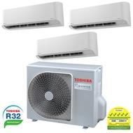 Toshiba System 3 Aircon - R32 Ras3m40u2acvgsg-2xrasm10u2kcvgsg-1xrasm18u2kcvgsg