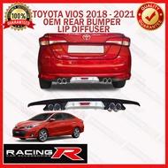 Toyota Vios Prime 2018 to 2021 OEM Rear Bumper Lip Diffuser 2019 2020