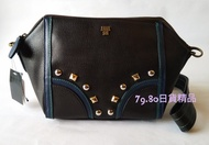 破天荒 3280元起標 日本全新正品 Anna Sui 黑色鉚釘 側背包 手拿包