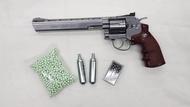 ปืนลูกโม่ WINGUN ขนาดลำกล้องยาว 8  สีเงิน แถมฟรี CO2+ลูกเซรามิค 1000 นัด สินค้ามือ 1 สามารถเลือก COD เก็บเงินปลายทางได้