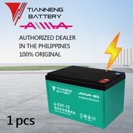 TIANNENG Battery (1pcs) 12v12Ah Sealed Lead Acid Battery for Electric Bike, AA eBike, Aima eBike, Model: 6-DZF-12, 100% Original