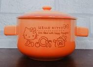 大賀屋 日貨 HELLO KITTY 碗 付蓋 餐碗 茶碗 飯碗 陶瓷碗 大碗 泡麵碗 湯碗 正版 L00011270