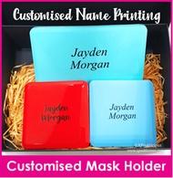 Customised Name Print Mask Holder / Mask Case / Face Mask Casing / Christmas Gift