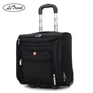 เกรดดีเยี่ยมกระเป๋าเดินทางแบบลากผู้ชาย Oxford ล้อกระเป๋าเดินทาง18นิ้ว Carry On กระเป๋าเดินทางแบบรถเข็นกระเป๋าแล็ปท็อป