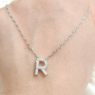 Nagita Gold Necklace Original Letters R Necklace Prily Gold And White Letters