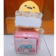 全新正版MY MELODY 美樂蒂絨毛抽屜置物盒 置物櫃 萬用盒 三麗鷗 蛋黃哥娃娃汽車紀錄板 玩偶