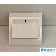 20A Hager 1 Gang Double Pole Switch Socket