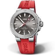 【ORIS 豪利時】Aquis Relief防水300M潛水機械錶(0173377304153-0742466EB 紅膠)