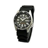 [Original] Seiko SKX013K1 Black Dial Analog Automatic Day and Date Black Rubber Strap Watch