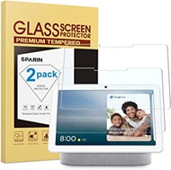 SPARIN for Google Nest Hub Max Screen Protector, [2 Pack] Tempered Glass Screen Protector for Google Nest Hub Max [Scratch Resistant] [High Definition] [Bubble Free] 10.0 Inch, 2019
