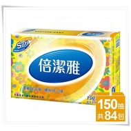 【宅免運】倍潔雅 花漾柔感抽取式衛生紙150抽84包 - **新品上市**