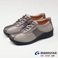 【MOONSTAR 月星女鞋】柔軟宣言系列-4E寬楦舒緩平衡休閒鞋(淺灰)