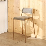 BuyJM真空電鍍不鏽鋼玫瑰金高腳椅/吧檯椅/寬44x50x91公分-免組裝