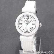 CHARRIOL 夏利豪 手錶 34mm 白色陶瓷天使腕錶 鋼索 瑞士 女錶