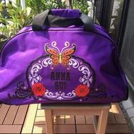 全新ANNA SUI 薔薇紫蝶拉桿旅行袋、旅行箱