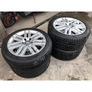 售w204賓士 原廠前後配17吋鋁圈 含4條米其林輪胎