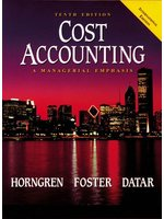 Cost Accounting: A Managerial Emphasis (Prentice Hall International Editions) (新品)