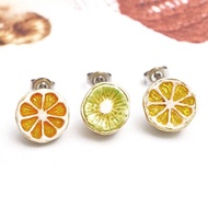 〔APM飾品〕日本Palnart poc 新鮮剖面水果派對耳環組 - 奇異果 / 柳橙 / 葡萄柚(抗過敏)
