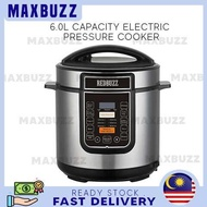 MAXBUZZ Electric Pressure Cooker 6.0L Large Capacity Stainless Steel Pot Rice Cooker Pot Electric 气压锅