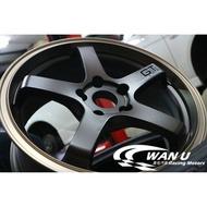 【萬有汽車輪胎鋁圈中心】ASGA富特利 A03 類ADVAN GT旋壓輕量化極致古銅金鋁圈17、18吋