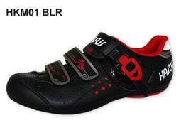 【簡單生活單車坊】(免運費) HASUS 硬底鞋 HKM01 BLR 黑紅款 自行車鞋 非卡鞋 參考 BANNARD