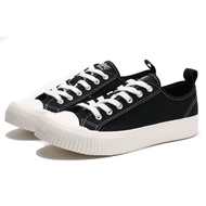 【KANGOL】帆布 餅乾鞋 黑色 黑標 休閒 女(6952200120)