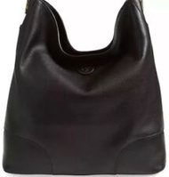 Tory Burch Whipstitch Logo Large Hobo Tote and Wallet Black