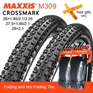 1PC MAXXIS CrossMark Mountain Bike Tires All size 26/27/29 M309 Bike Tires Gulong ng bisikleta 35-65PSI 60TPI MTB Not Foldable/Foldable Tire Bicycle Parts made in Taiwan