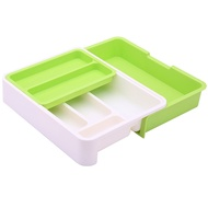 Kitchen Drawer Storage Box Plastic Storage Drawer Tableware Tray Separation Durable Appliances Multi-Zone Safe and Easy to Clean