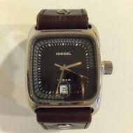 DIESEL 限量版 手錶 真皮錶帶