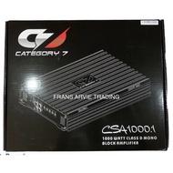 Category 7 CSA1000.1 1000W Class D Mono block Amplifier