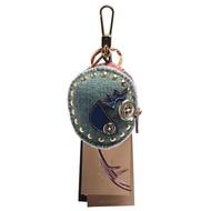 【BURBERRY 巴寶莉】Thomas經典格紋小雞造型鈕釦/鉚釘裝飾鑰匙圈/吊飾(暈粉8000128-BLUSH PINK MULTI)