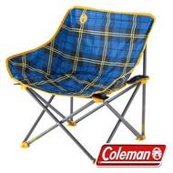 【山野賣客】美國Coleman CM-23170 輕鬆椅(格子花) 休閒椅 露營椅 折疊椅 月亮椅 盤腿椅 低腳椅