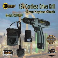 OREX 12V CORDLESS DRILL DRIVER / CDD1080 / COMES WITH