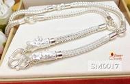 Jinny สร้อยคอเงินแท้ 92.5% สร้อยเส้นใหญ่ ห้อยพระ 5 องค์ ลายสี่เสา หัวมังกร ขนาด 2 บาททอง (สร้อยงานไทย) ความหนา 3.0 มิล SM0017