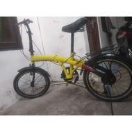 sepeda lipat exotic 20 bekas dikeep annisasalsa777