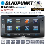 BLAUPUNKT TEXAS 600 200mm Toyota Double DIN CD Car DVD Player Stereo Headunit