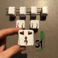 """Vinakip Np 101G 3-pin socket connector """"Portable socket that converts 2 pins to 3 pins """" Multi-purpose socket"""