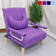 【台客嚴選】優利五段式日式多功能單人沙發床椅 沙發床 和室椅 簡易單人床 附同色月亮枕(4色可選)