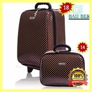 ราคาถูกที่สุด BAG BKK กระเป๋าเดินทาง Wheal ล้อลาก เซ็ทคู่ 18 นิ้ว/14 นิ้ว รุ่น F7719 -18 คุณภาพดี